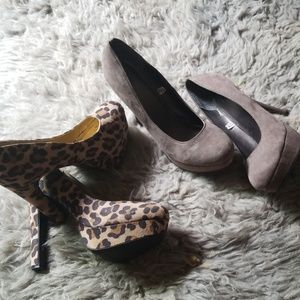 2 pairs of platform heels!